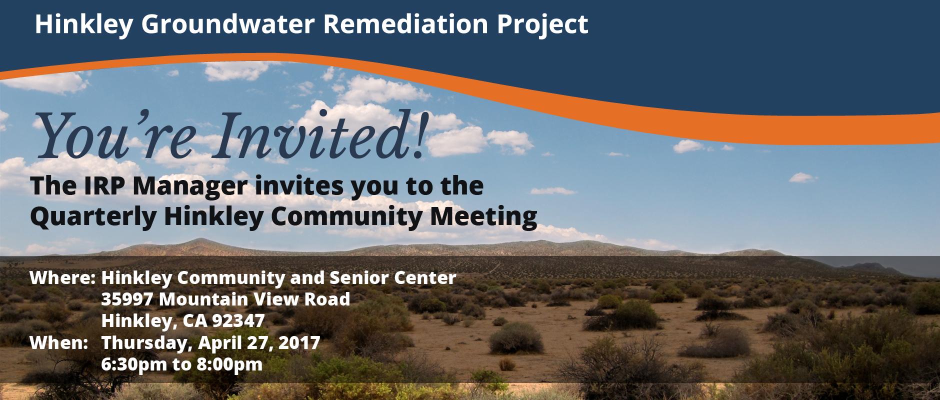 Hinkley Community Meeting, April 27, 2017