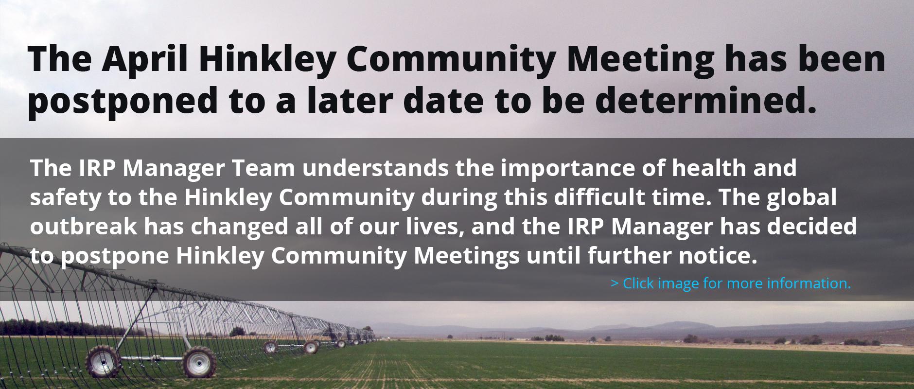 April 2020 Meeting Update