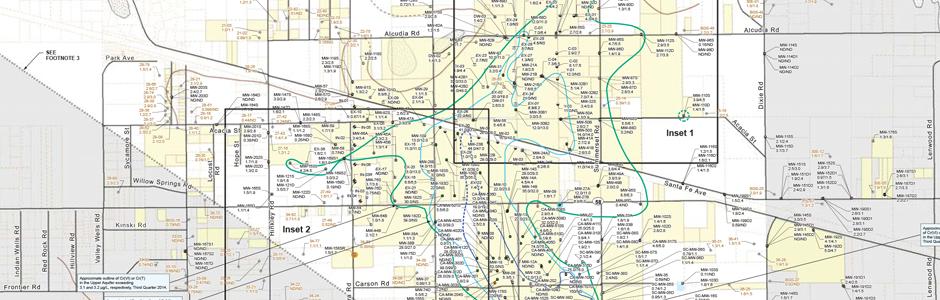 PG&E Chromium Plume Map for 3Q 2014