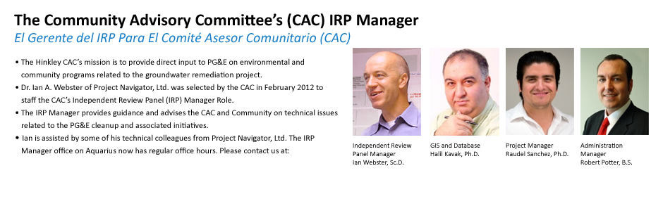 The Community Advisory Committee's (CAC) IRP Manager
